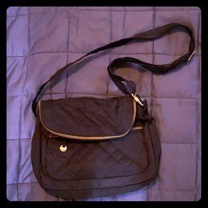 Black travel satchel/shoulder bag